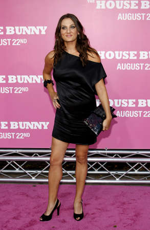 Dana Goodman at the Los Angeles premiere of 'House Bunny' held at the Mann Village Theatre in Westwood, USA on August 20, 2008. Standard-Bild - 111246092