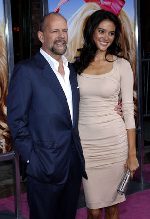 willis: Bruce Willis and Emma Heming at the Los Angeles premiere of The House Bunny held at the Mann Village Theater in Westwood, USA on August 20, 2008.