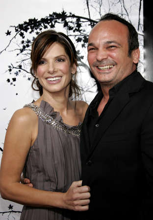 """Sandra Bullock and Mennan Yapo at the Los Angeles Premiere of """"Premonition"""" held at the Cinerama Dome in Hollywood, USA on March 12, 2007."""