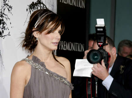 """Sandra Bullock at the Los Angeles Premiere of """"Premonition"""" held at the Cinerama Dome in Hollywood, USA on March 12, 2007."""