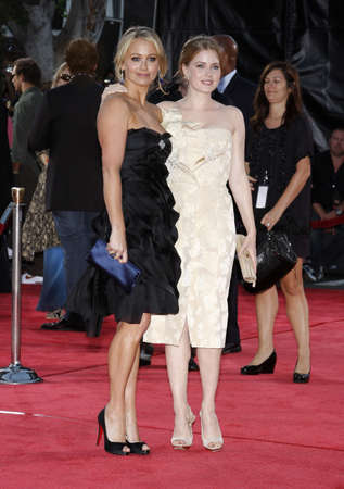 Chrsitine Taylor and Amy Adams at the Los Angeles premiere of 'Tropic Thunder' held at the Mann Village Theater in Westwood, USA on August 11, 2008.