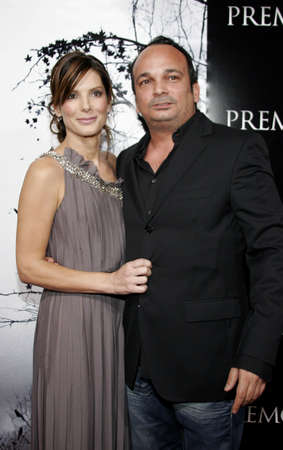 Sandra Bullock and Mennan Yapo at the Los Angeles premiere of Premonition held at the Cinerama Dome in Hollywood, USA on March 12, 2007.