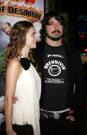 Dave Grohl of Foo Fighters and Jordyn Blum at the Los Angeles premiere of Tenacious D: The Pick of Destiny held at the Graumans Chinese Theatre in Hollywood, USA on November 9, 2006. Editorial