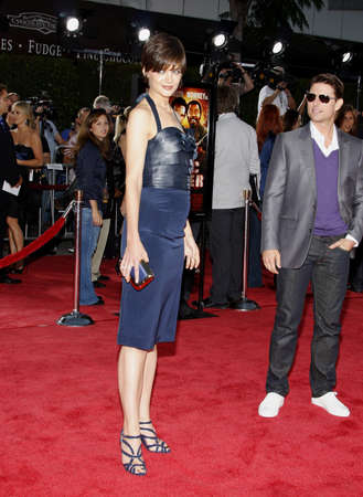 Katie Holmes at the Los Angeles premiere of 'Tropic Thunder' held at the Mann Village Theater in Westwood, USA on August 11, 2008. Standard-Bild - 108923968