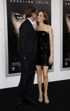 brad pitt: Brad Pitt and Angelina Jolie at the Los Angeles Premiere of Salt held at the Graumans Chinese Theater in Los Angeles, USA on July 19, 2010.