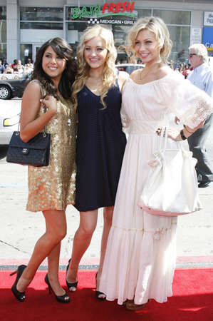 monet: Daniella Monet, AJ and Aly Michalka at the World Premiere of Nancy Drew held at the Graumans Chinese Theater in Hollywood, USA on June 9, 2007. Editorial