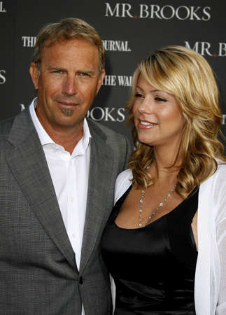 Christine Baumgartner and Kevin Costner at the Los Angeles Premiere of Mr. Brooks held at the Graumans Chinese Theater in Hollywood, USA on May 22, 2007. Editorial