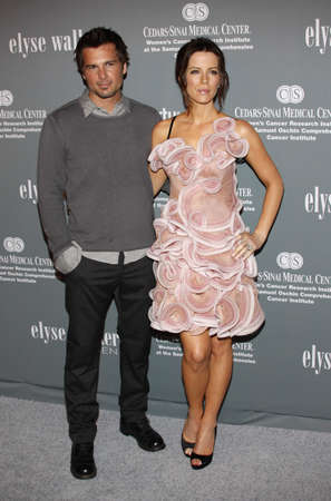 Kate Beckinsale and Len Wiseman at the 4th Annual Pink Party held at the Hanger 8 in Santa Monica, California, United States on September 13, 2008.