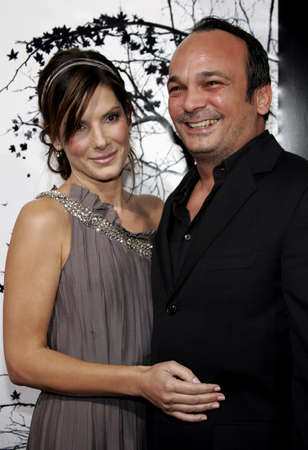 Sandra Bullock and Mennan Yapo at the Los Angeles premiere of