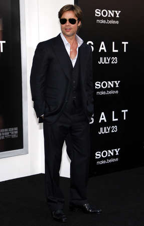 Brad Pitt at the Los Angeles premiere of Salt held at the Graumans Chinese Theatre in Hollywood, USA on July 19, 2010. Editorial
