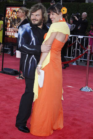 mann: Jack Black and wife Tanya Haden at the Los Angeles premiere of Tropic Thunder held at the Mann Village Theater in Westwood, USA on August 11, 2008.