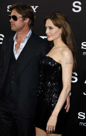 angelina jolie: Brad Pitt and Angelina Jolie at the Los Angeles premiere of Salt held at the Graumans Chinese Theater in Los Angeles, USA on July 19, 2010. Editorial