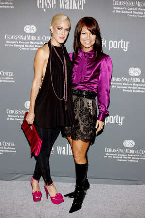montag: Heidi Montag and Elyse Walker at the 4th Annual Pink Party held at the Hanger 8 in Santa Monica, California, United States on September 13, 2008.