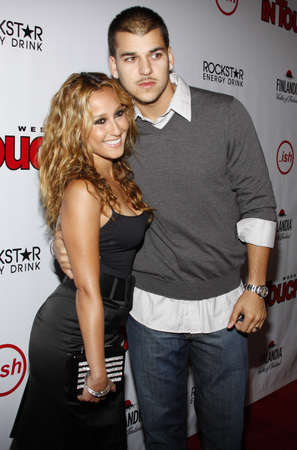 Adrienne Bailon and Rob Kardashian at the Summer Stars Party 2008 held at the Social in Hollywood, California, United States on May 22, 2008. 新聞圖片