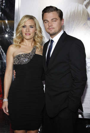 Kate Winslet and Leonardo DiCaprio at the World Premiere of Revolutionary Road held at the Mann Village Theater in Westwood, USA on December 15, 2008.