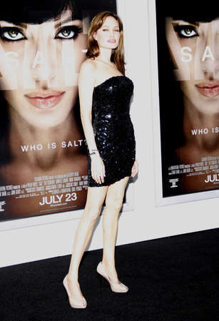angelina jolie: Angelina Jolie at the Los Angeles premiere of Salt held at the Graumans Chinese Theater in Hollywood, USA on July 19, 2010. Editorial