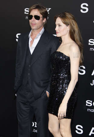 angelina jolie: Brad Pitt and Angelina Jolie at the Los Angeles premiere of Salt held at the Graumans Chinese Theater in Hollywood, USA on July 19, 2010.