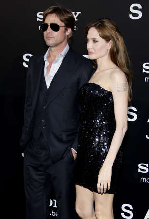 brad pitt: Brad Pitt and Angelina Jolie at the Los Angeles premiere of Salt held at the Graumans Chinese Theater in Hollywood, USA on July 19, 2010.