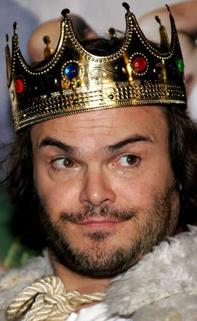 Jack Black at the Los Angeles premiere of Tenacious D in The Pick Of Destiny held at the Graumans Chinese Theatre in Hollywood, USA on November 9, 2006. Editorial