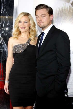 Kate Winslet and Leonardo DiCaprio at the World premiere of Revolutionary Road held at the Mann Village Theater in Westwood, California, United States on December 15, 2008.