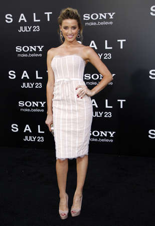 Amber Heard at the Los Angeles premiere of Salt held at the Graumans Chinese Theater in Hollywood, USA on July 19, 2010. Editorial
