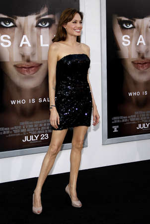 angelina jolie: Angelina Jolie at the Los Angeles premiere of Salt held at the Graumans Chinese Theater in Hollywood, USA July 19, 2010.