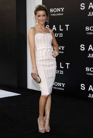 heard: Amber Heard at the Los Angeles premiere of Salt held at the Graumans Chinese Theatre in Hollywood, USA on July 19, 2010. Editorial