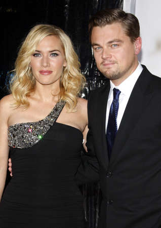 Kate Winslet and Leonardo DiCaprio at the Los Angeles premiere of Revolutionary Road held at the Mann Village Theater in Westwood, USA on December 15, 2008.