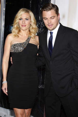 Leonardo DiCaprio and Kate Winslet at the Los Angeles premiere of Revolutionary Road held at the Mann Village Theater in Westwood, USA on December 15, 2008.
