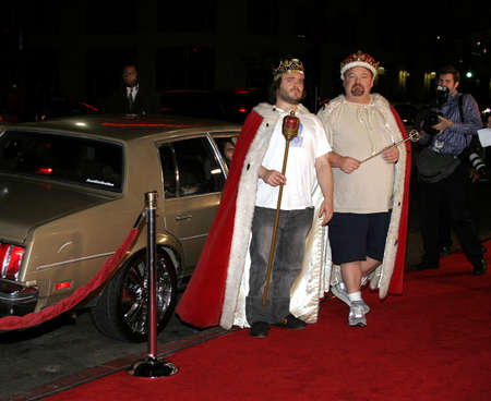 Jack Black and Kyle Gass at the Los Angeles premiere of November 9, 2006.