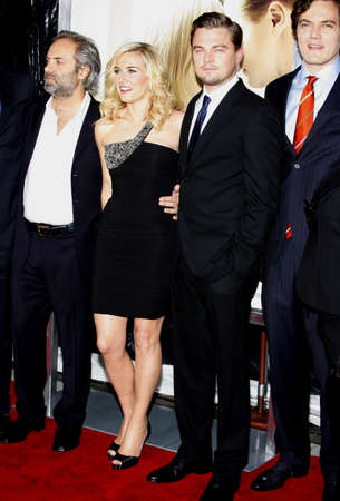 Sam Mendes, Michael Shannon, Kate Winslet and Leonardo DiCaprio at the Los Angeles premiere of Revolutionary Road held at the Mann Village Theater in Westwood, USA on December 15, 2008.