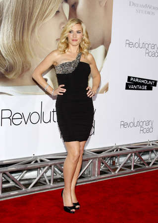 Kate Winslet at the World premiere of Revolutionary Road held at the Mann Village Theater in Westwood, USA on December 15, 2008. Editorial