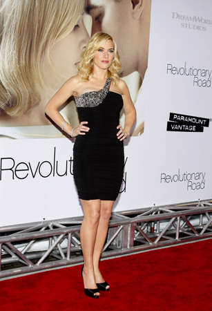 Kate Winslet at the World premiere of Revolutionary Road held at the Mann Village Theater in Westwood, California, United States on December 15, 2008.
