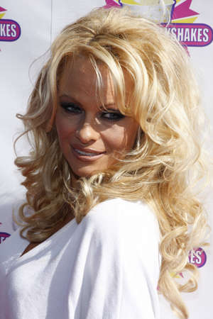 Pamela Anderson and PETA create the First ALL-VEGAN Shake held at the Millions of Milkshakes held at the ArcLight Cinemas in Hollywood, California, United States on April 9, 2010. Editöryel