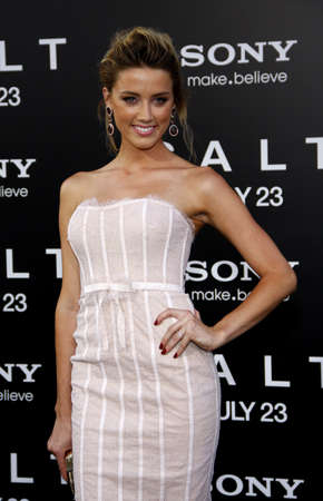 Amber Heard at the Los Angeles premiere of Salt held at the Graumans Chinese Theatre in Hollywood, USA on July 19, 2010. Editorial
