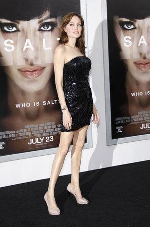 Angelina Jolie at the Los Angeles premiere of 'Salt