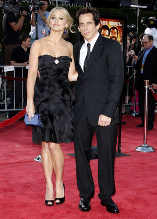 christine: Christine Taylor and Ben Stiller at the Los Angeles premiere of Tropic Thunder held at the Mann Village Theater in Westwood, USA on August 11, 2008.