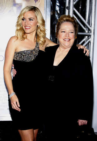 Kate Winslet and Kathy Bates at the World premiere of Revolutionary Road held at the Mann Village Theater in Westwood, USA on December 15, 2008.