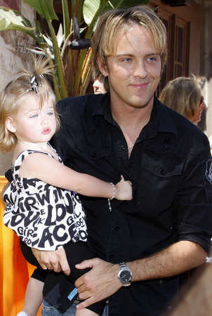 Larry Birkhead and daughter Dannielynn at the Simpsons Ride Opening Celebration Party held at the Universal Studios Hollywood in Universal City, California, United States on May 17, 2008.