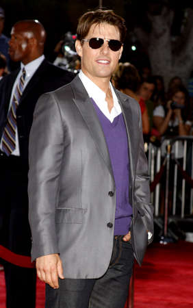 Tom Cruise at the Los Angeles premiere of Tropic Thunder held at the Mann Village Theater in Westwood, California, United States on August 11, 2008. Editorial