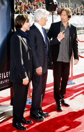 Chris Carter and David Duchovny at the World premiere of The X-Files: I Want To Believe held at the Graumans Chinese Theater in Hollywood, USA on July 23, 2008.