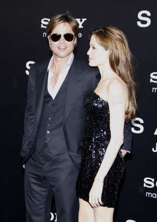 brad pitt: Brad Pitt and Angelina Jolie at the Los Angeles premiere of Salt held at the Graumans Chinese Theater in Los Angeles, USA on July 19, 2010. Editorial