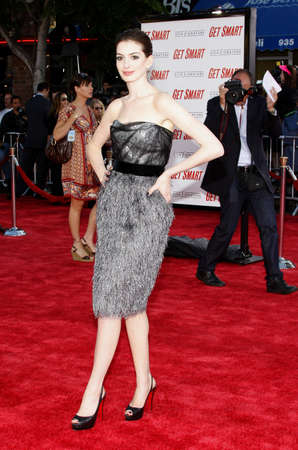 hathaway: Anne Hathaway at the World Premiere of Get Smart held at the Mann Village Theater in Westwood, USA on June 16, 2008.