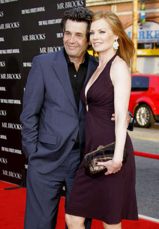 Alan Rosenberg and Marg Helgenberger at Los Angeles Premiere of Mr. Brooks held at the Graumans Chinese Theater in Hollywood, USA on May 22, 2007. Editöryel