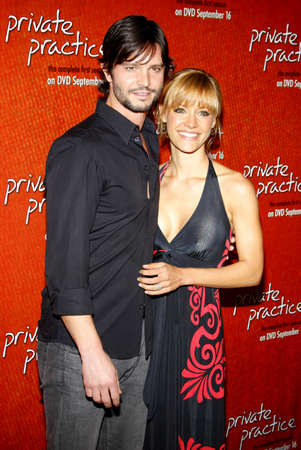 september 2: Jason Behr and KaDee Strickland at the Season One DVD Launch of Private Practice held at the Roosevelt Hotels Tropicana Bar in Hollywood, USA on September 2, 2008. Editorial