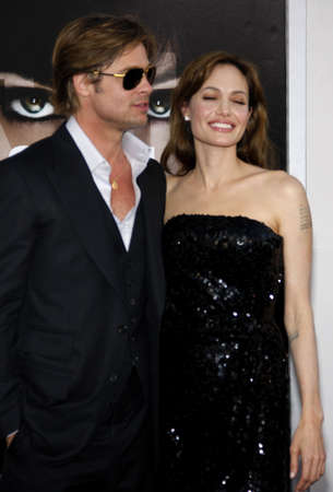 angelina jolie: Brad Pitt and Angelina Jolie at the Los Angeles Premiere of Salt held at the Graumans Chinese Theater in Los Angeles, USA on July 19, 2010.