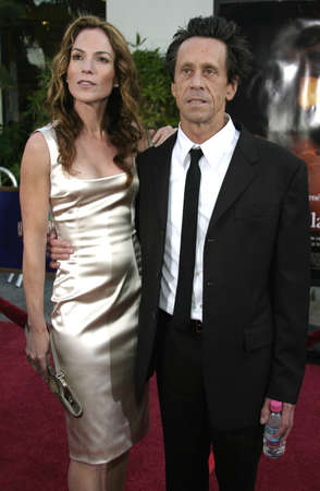 grazer: Producer Brian Grazer and spouse Gigi Levangie at the Los Angeles premiere of Cinderella Man held at the Gibson Amphitheatre at Universal City in Hollywood, USA on May 23, 2005.
