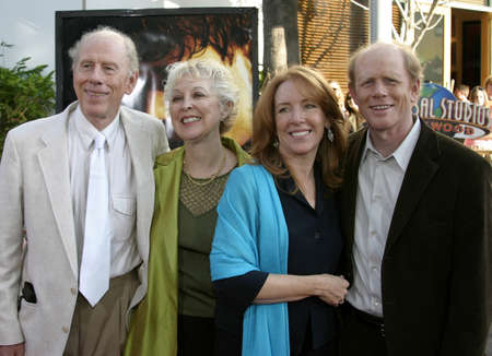 rance: Rance, Judy, Ron, wife Cheryl Howard at the Los Angeles premiere of Cinderella Man held at the Gibson Amphitheatre at Universal City in Hollywood, USA on May 23, 2005.