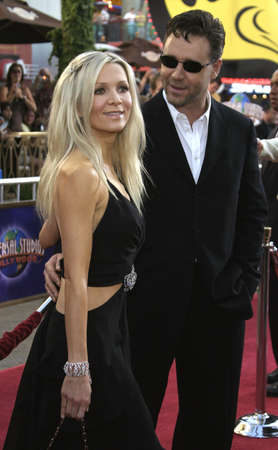 spencer: Russell Crowe and Danielle Spencer at the Los Angeles premiere of Cinderella Man held at the Gibson Amphitheatre at Universal City in Hollywood, USA on May 23, 2005. Editorial