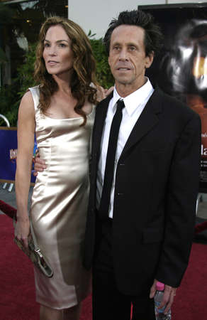 grazer: Brian Grazer and wife at the Los Angeles premiere of Cinderella Man held at the Gibson Amphitheatre at Universal City in Hollywood, USA on May 23, 2005.